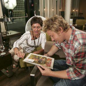 Jamie Oliver und Bettina Ullmann.