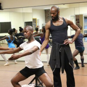Keelan Whitmore is teaching a dance class in South Africa.