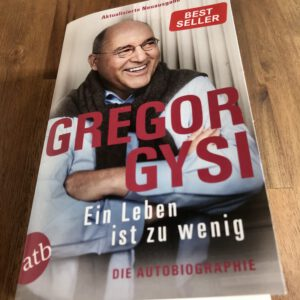 Cover Autobiografie Gregor Gysi