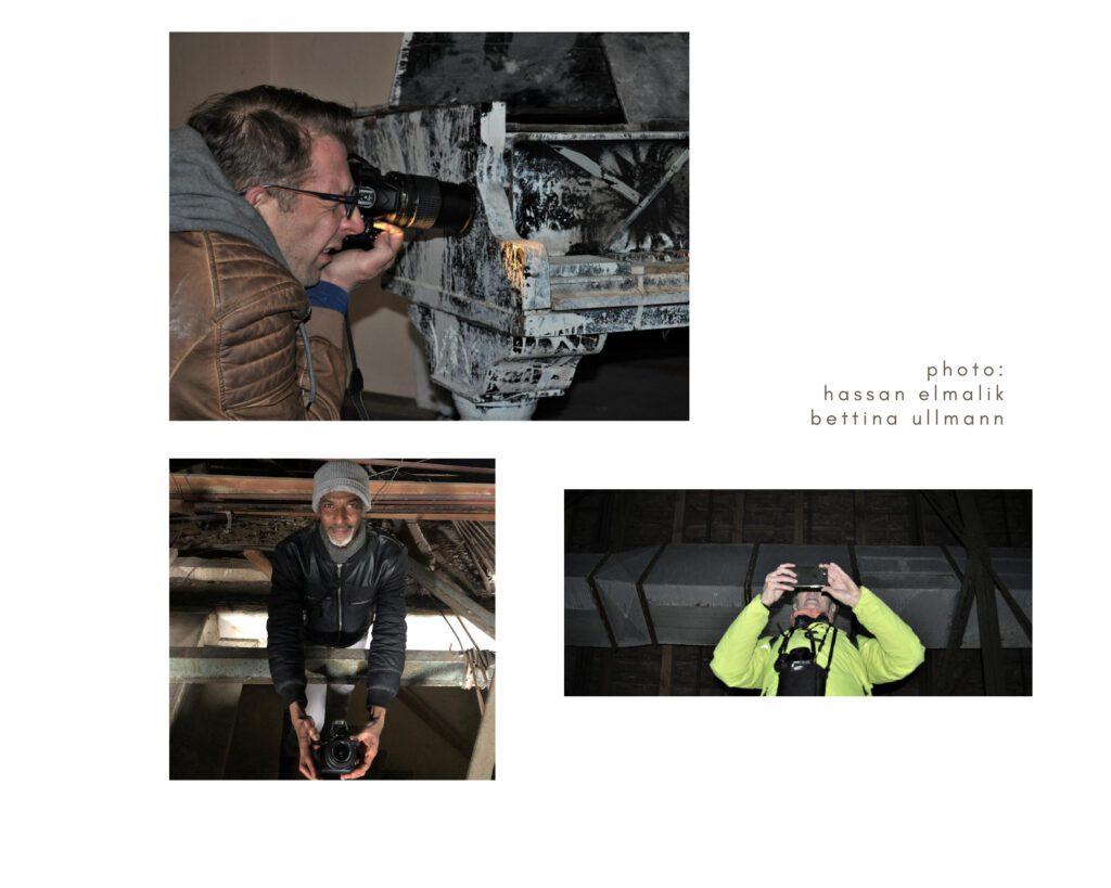 Die Journalistin und Fotografen